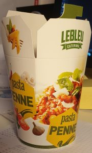 pasta beker catering Lebleu